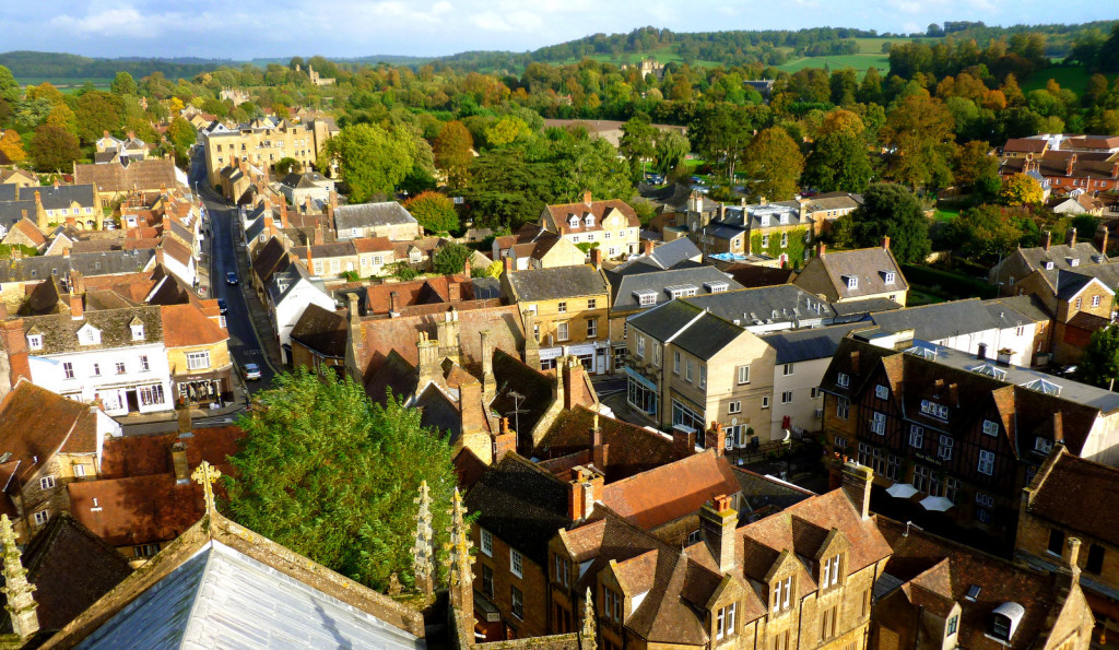 View of Sherborne from the Abbey by Liz Burt (2)