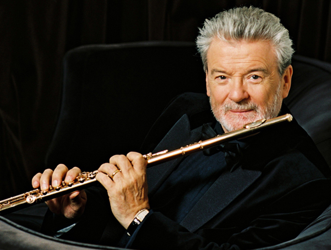 Sir James Galway performs