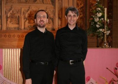 Francesco Attesti (piano) and Matteo Galli (organ