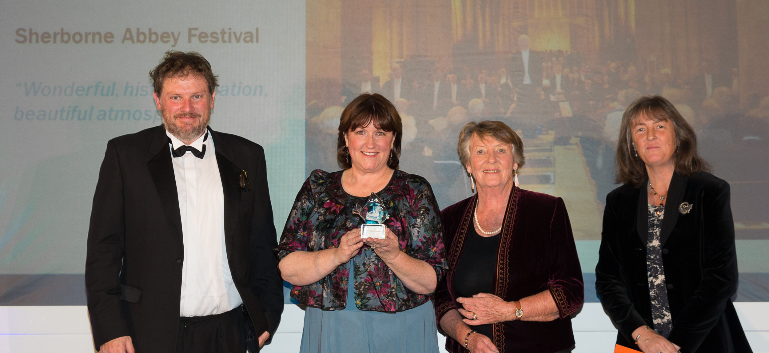 Sherborne Abbey Festival collects Dorset Tourism accolade