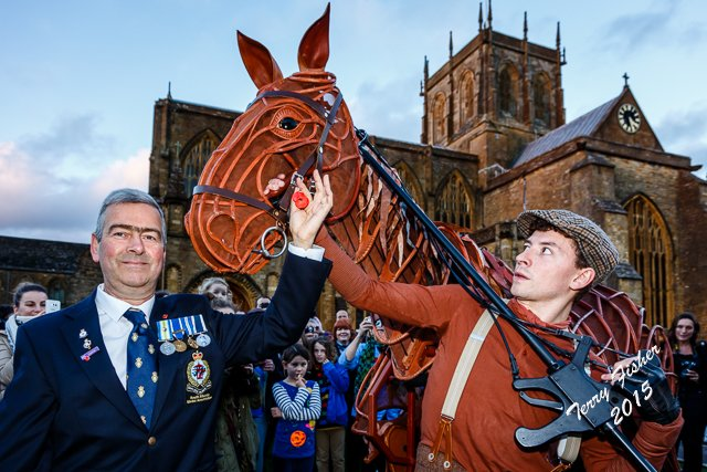 Joy as Joey the War Horse comes to Sherborne