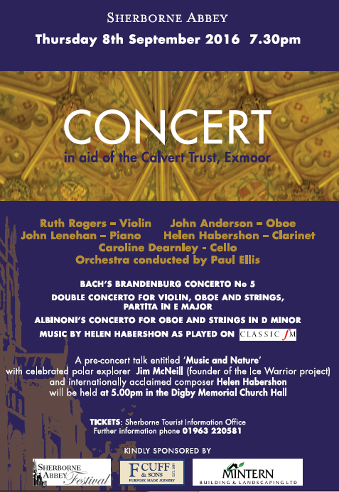 Sherborne Abbey Concert 8 September