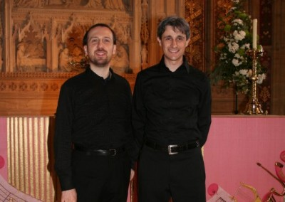 Francesco Attesti (piano) and Matteo Galli (organ