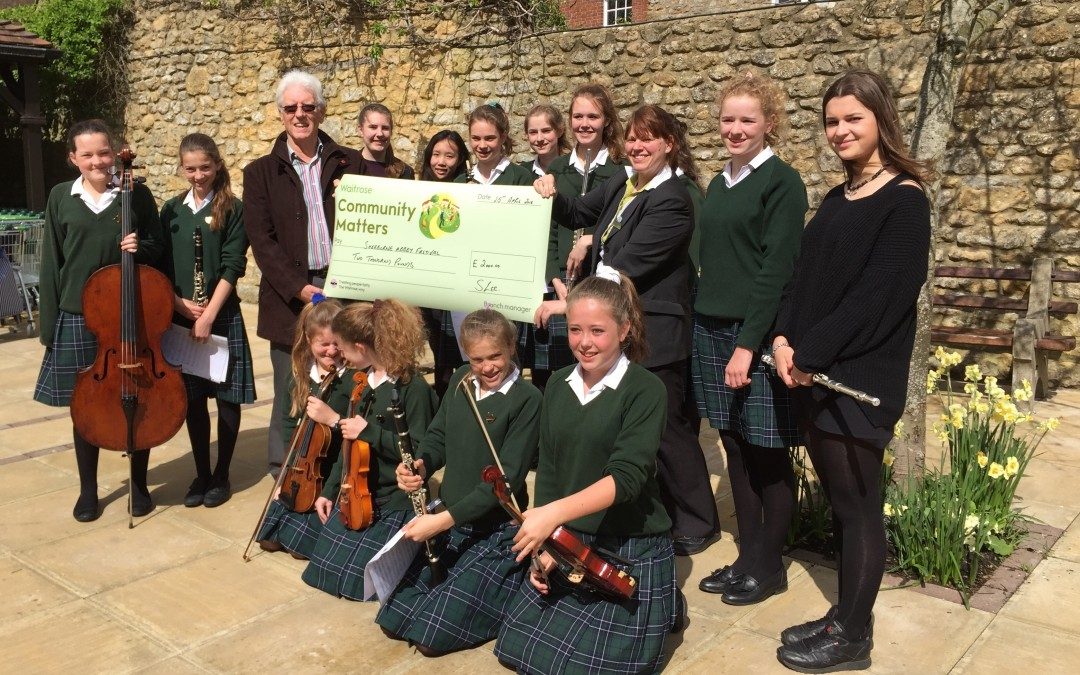 Sherborne Girls pop up at Waitrose